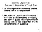 learning objective 2 example 1 calculating a type ii error2