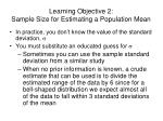 learning objective 2 sample size for estimating a population mean1