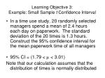 learning objective 3 example small sample t confidence interval1