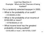 learning objective 4 example what are the chances of being audited1