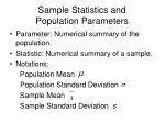 sample statistics and population parameters1
