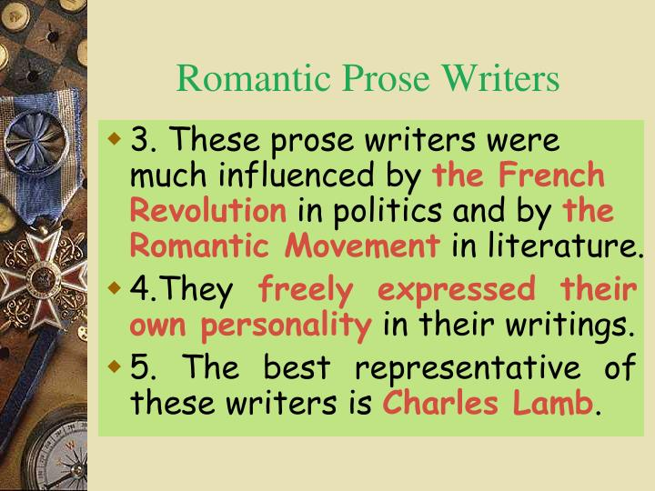 prose writing in romanticism
