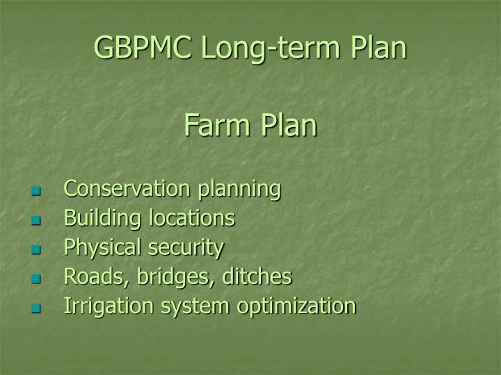 GBPMC Long-term Plan