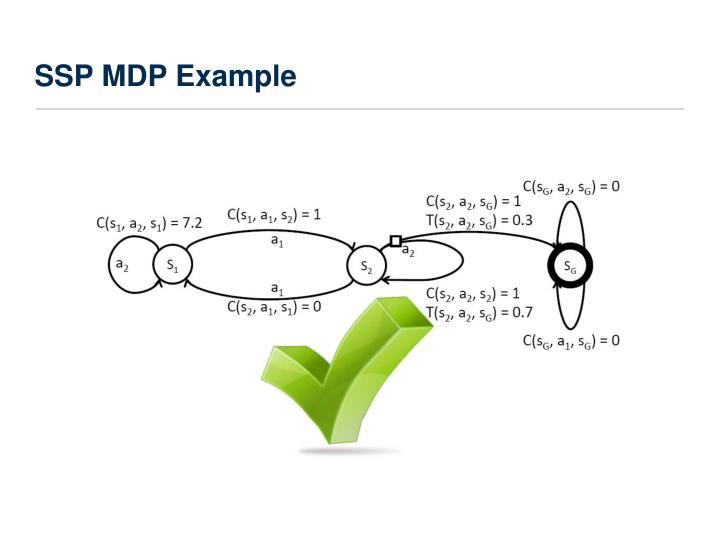 SSP MDP Example