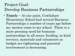 project goal develop business partnerships4