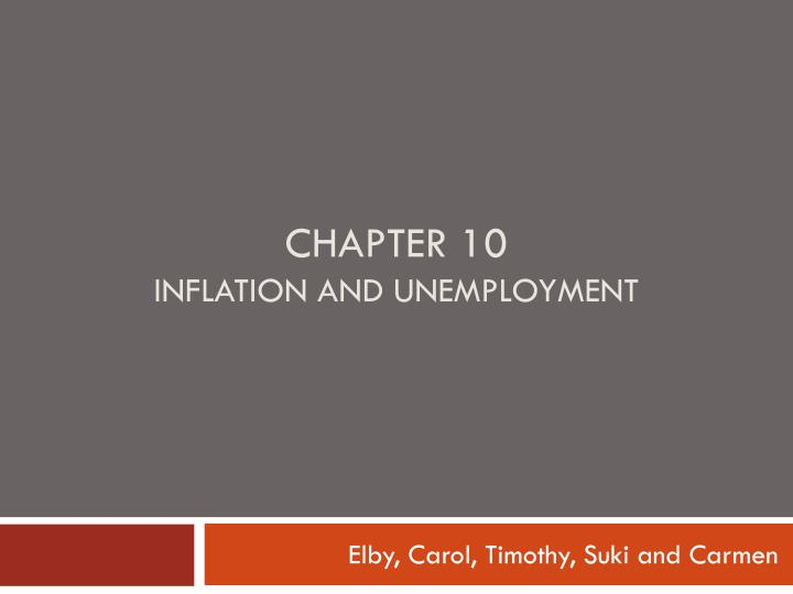 Ppt chapter 10 inflation and unemployment powerpoint presentation chapter 10inflation and unemployment toneelgroepblik Image collections