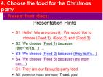 4 choose the food for the christmas party5