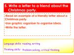 5 write a letter to a friend about the christmas party