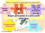 major principles in curriculum planning