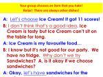 sandwiches vs ice cream