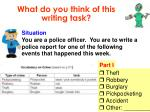 what do you think of this writing task