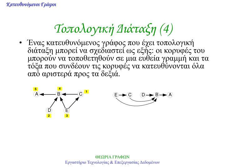 Τοπολογική Διάταξη (4)
