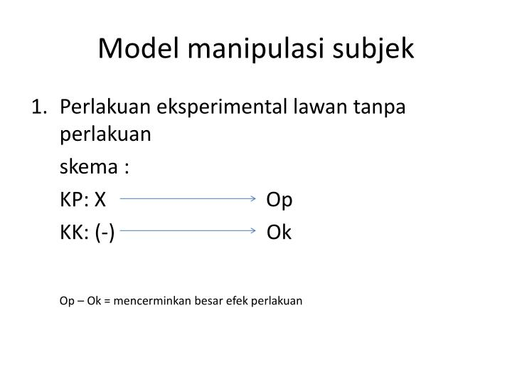 Model manipulasi subjek