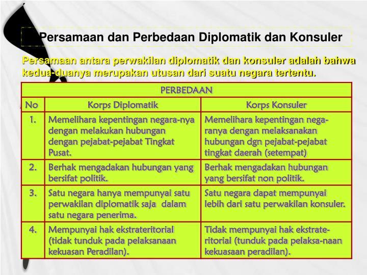 Persamaan dan Perbedaan Diplomatik dan Konsuler