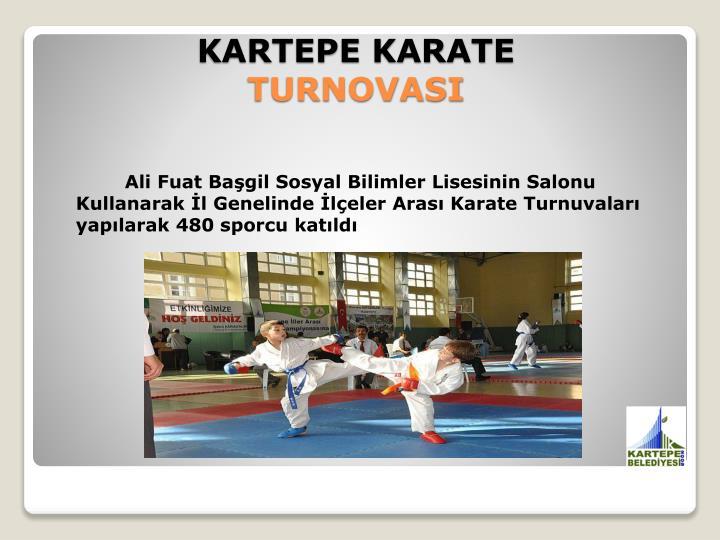 Ali Fuat Başgil Sosyal Bilimler Lisesinin Salonu Kullanarak İl Genelinde İlçeler Arası Karate Turnuvaları yapılarak 480 sporcu katıldı