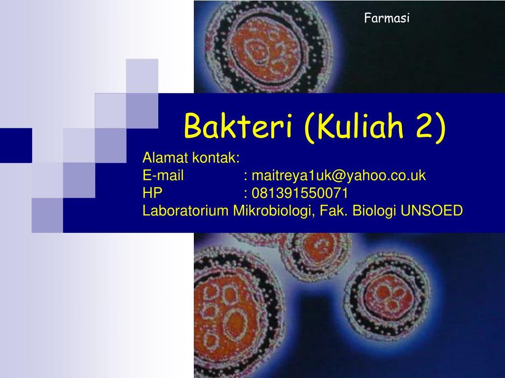 Ppt Bakteri Kuliah 2 Powerpoint Presentation Free Download Id 3671417