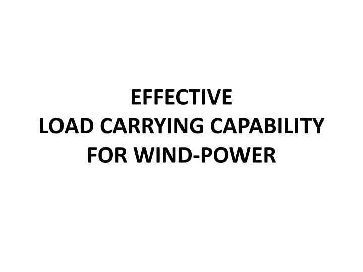 effective load carrying capability for wind power n.