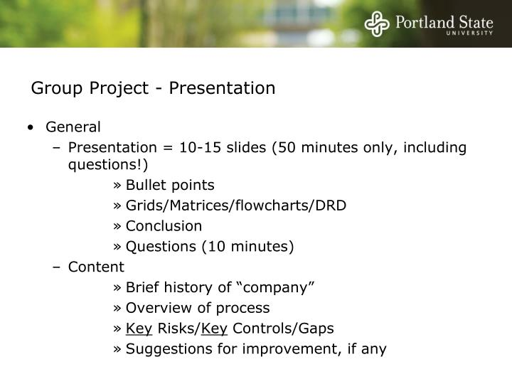 group project presentation n.