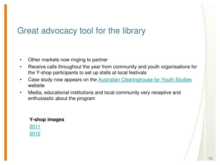 Great advocacy tool for the library