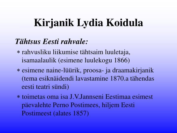 Kirjanik Lydia Koidula