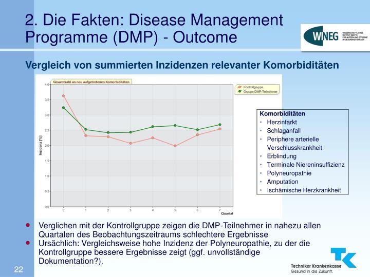 2. Die Fakten: Disease Management Programme (DMP) - Outcome