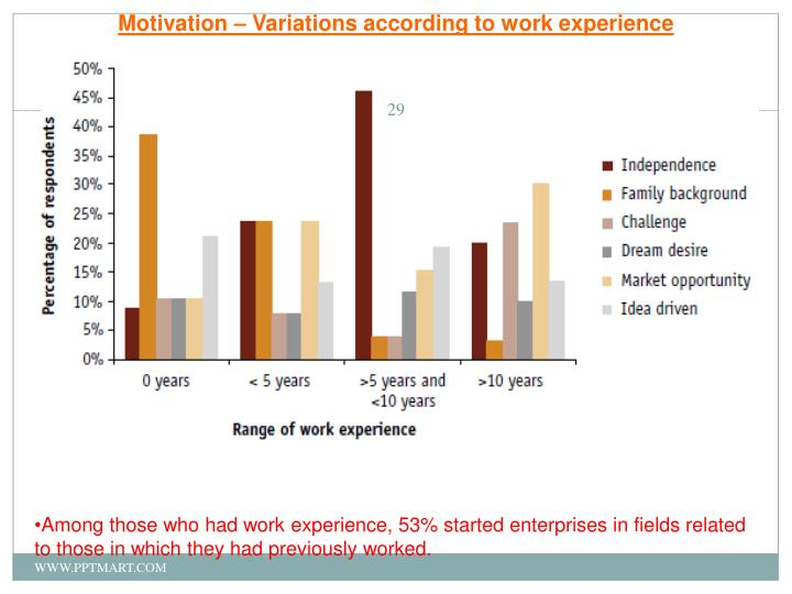 Motivation – Variations according to work experience