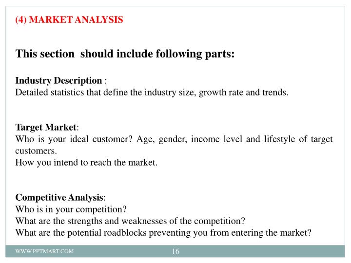 (4) MARKET ANALYSIS