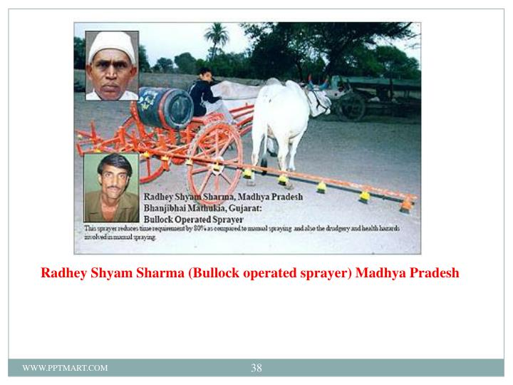 Radhey Shyam Sharma (Bullock operated sprayer) Madhya Pradesh