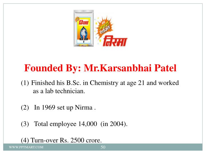 Founded By: Mr.Karsanbhai Patel