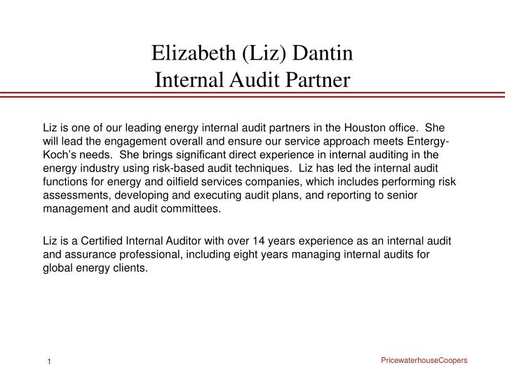 elizabeth liz dantin internal audit partner n.