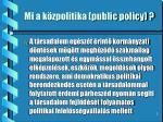 mi a k zpolitika public policy