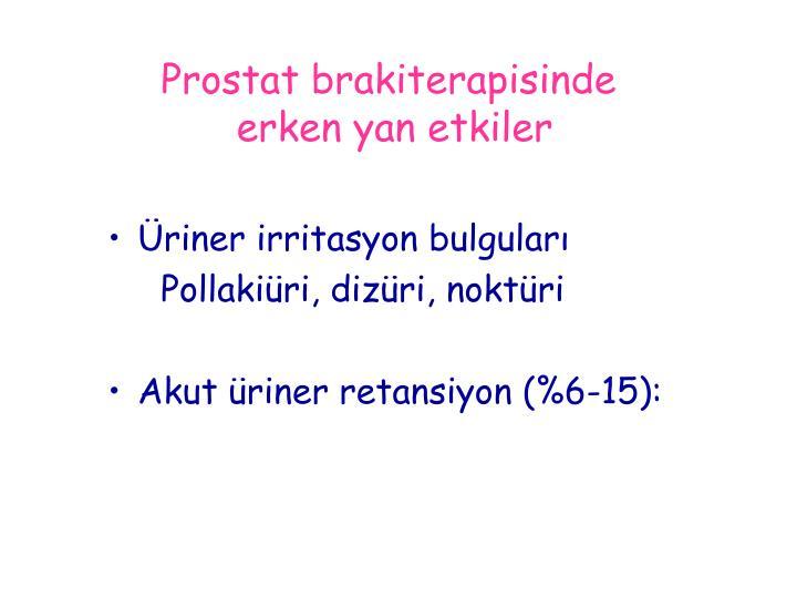 Prostat brakiterapisinde