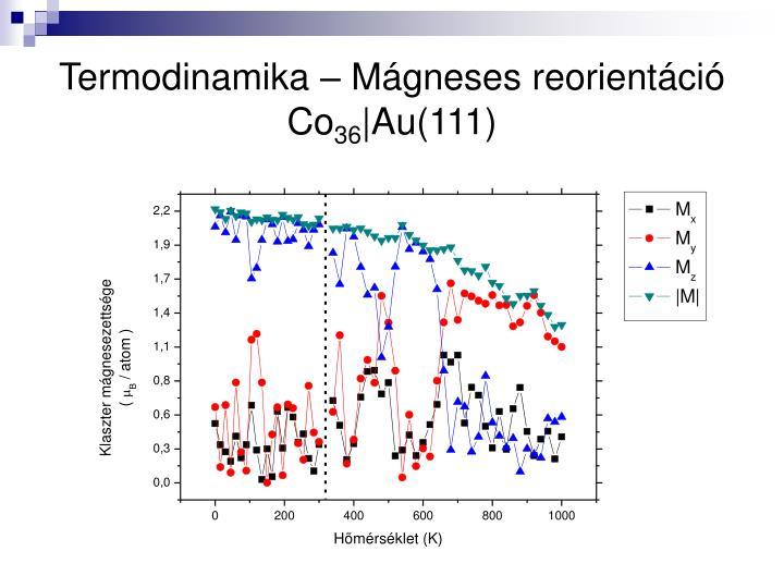 Termodinamika – Mágneses reorientáció