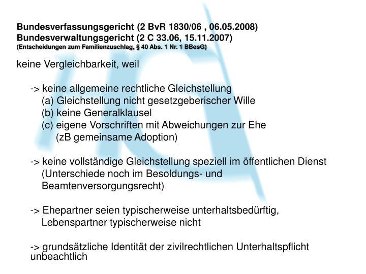 Bundesverfassungsgericht (2 BvR 1830/06