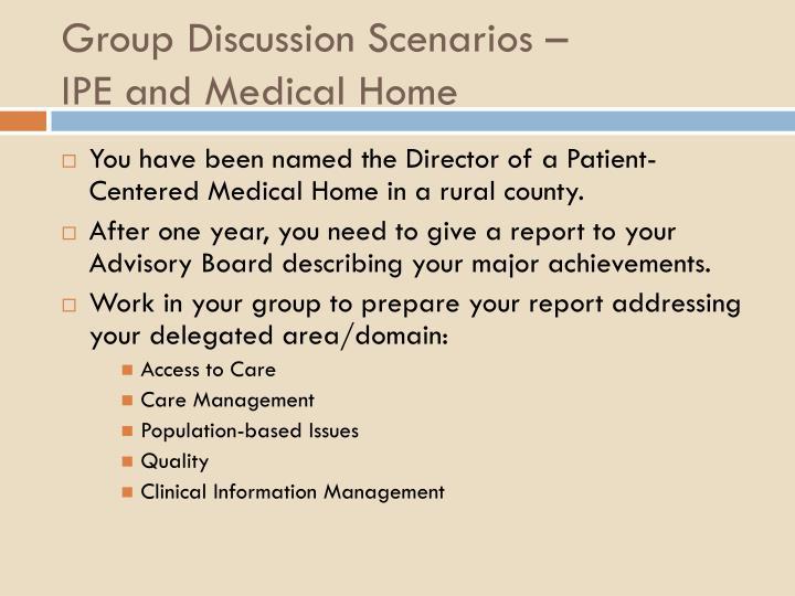 Group Discussion Scenarios –