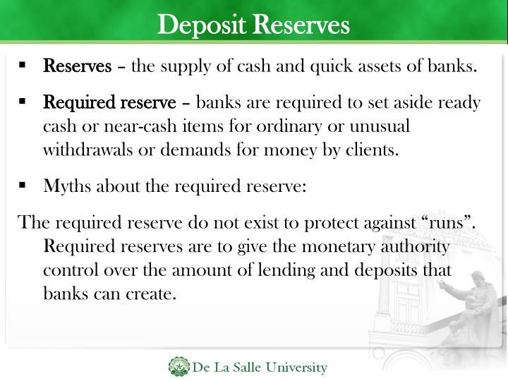 Deposit Reserves