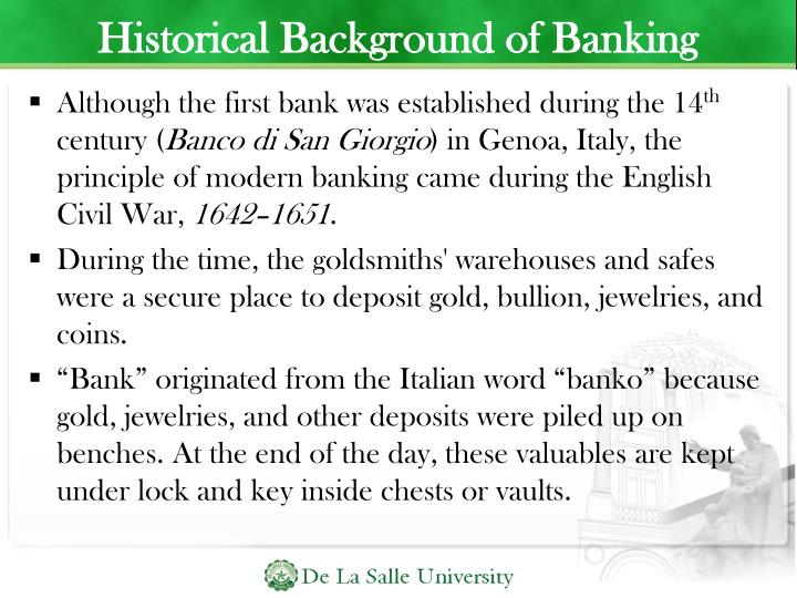 Historical Background of Banking
