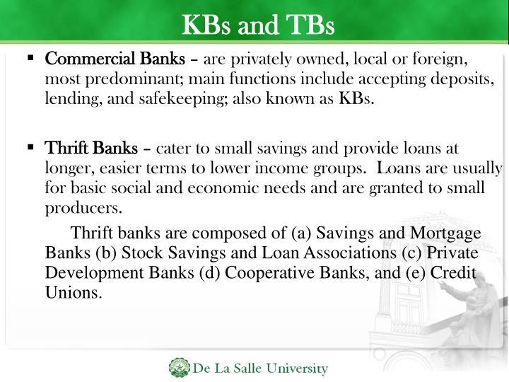 KBs and TBs