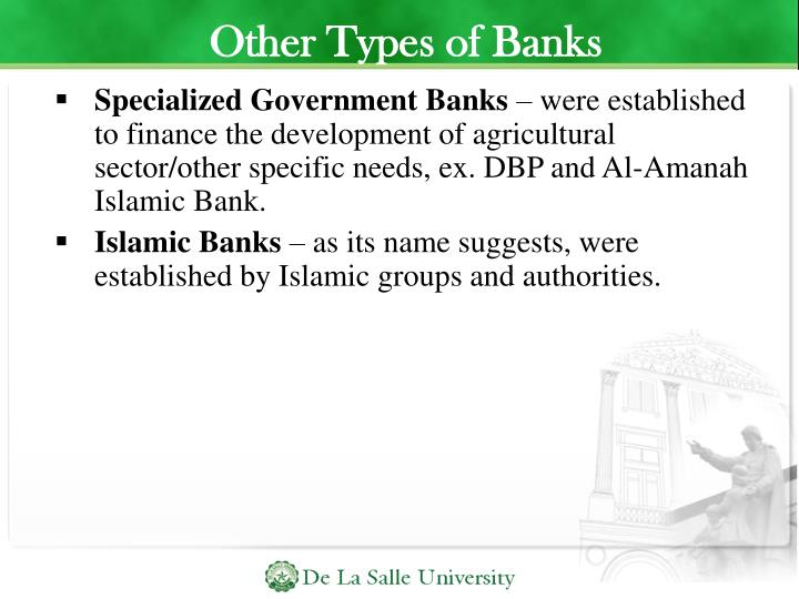 Other Types of Banks