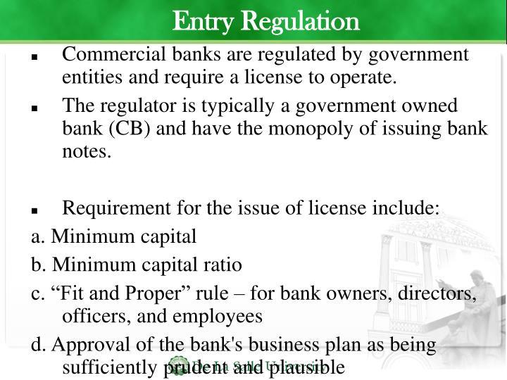 Entry Regulation