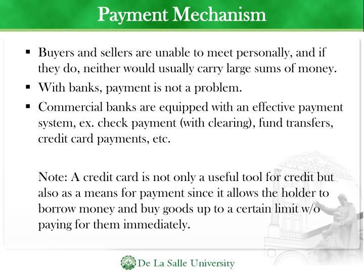 Payment Mechanism