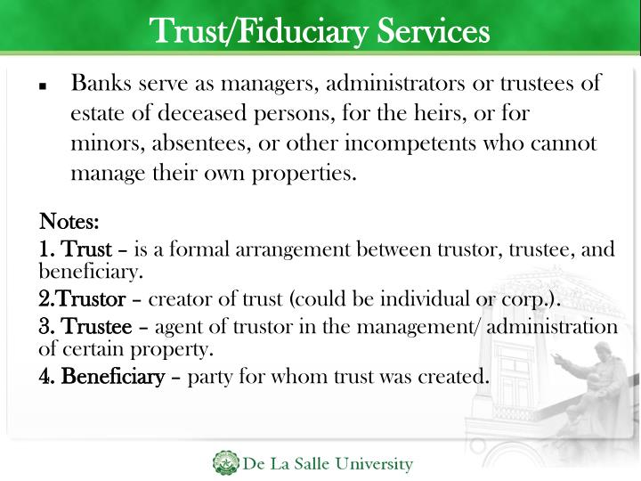 Trust/Fiduciary Services