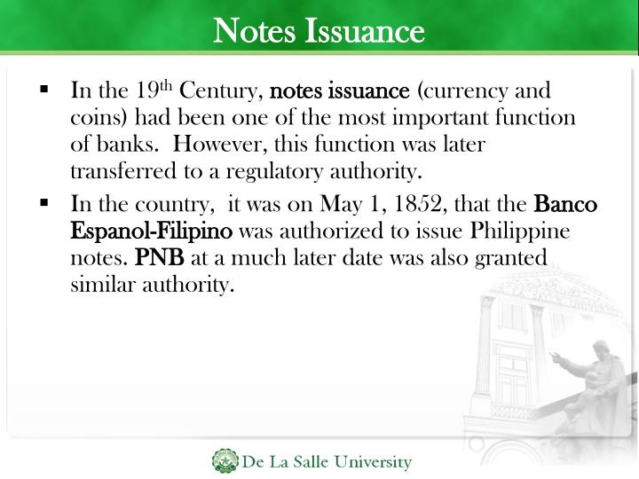 Notes Issuance