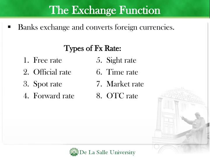 The Exchange Function