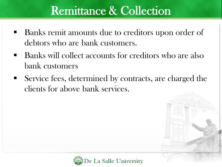 Remittance & Collection