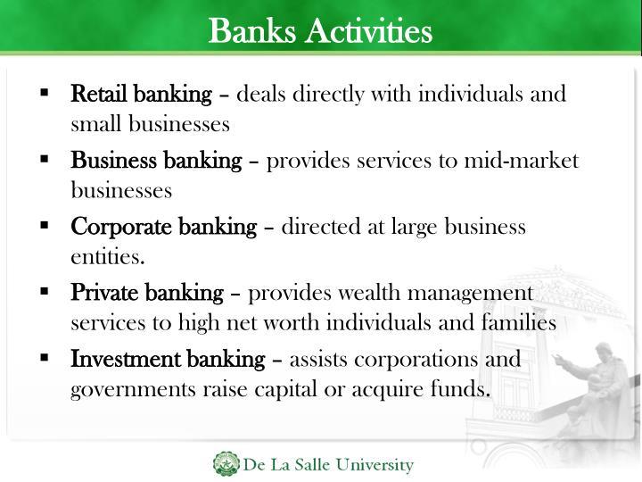 Banks Activities