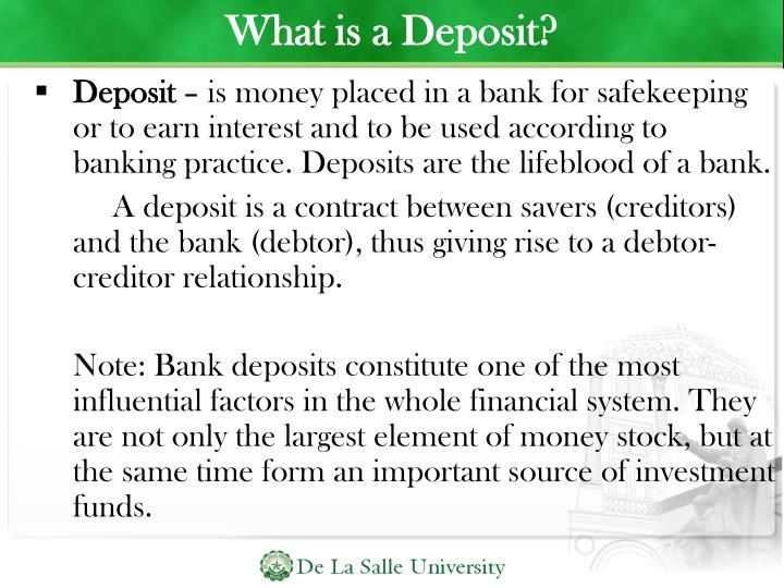 What is a Deposit?