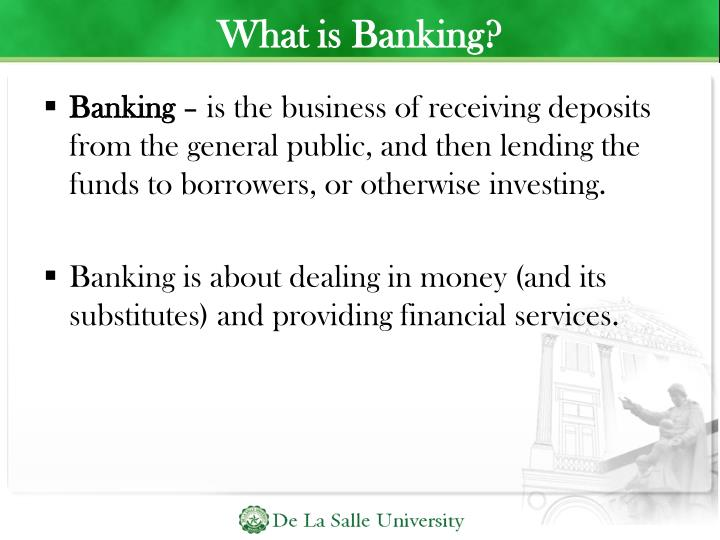 What is Banking?