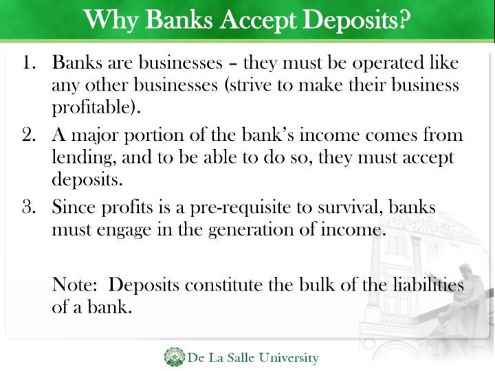 Why Banks Accept Deposits?