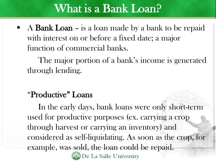 What is a Bank Loan?